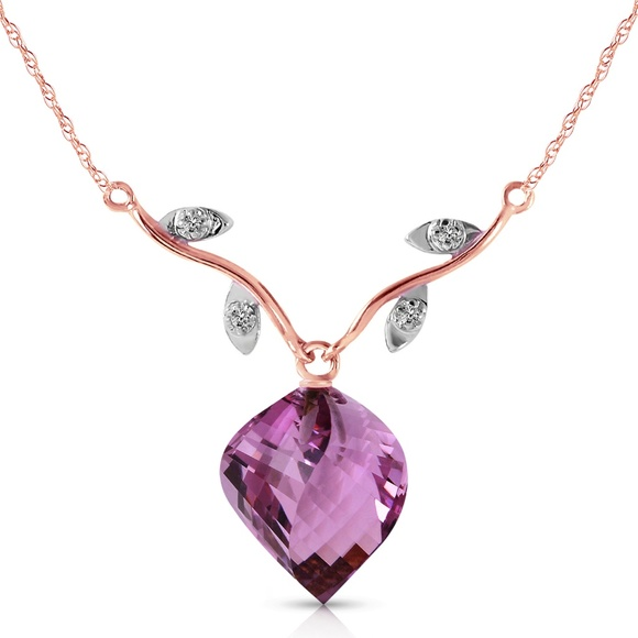 Galaxy Gold Products Jewelry - NATURAL DIAMONDS AND TWISTED BRIOLETTE AMETHYST